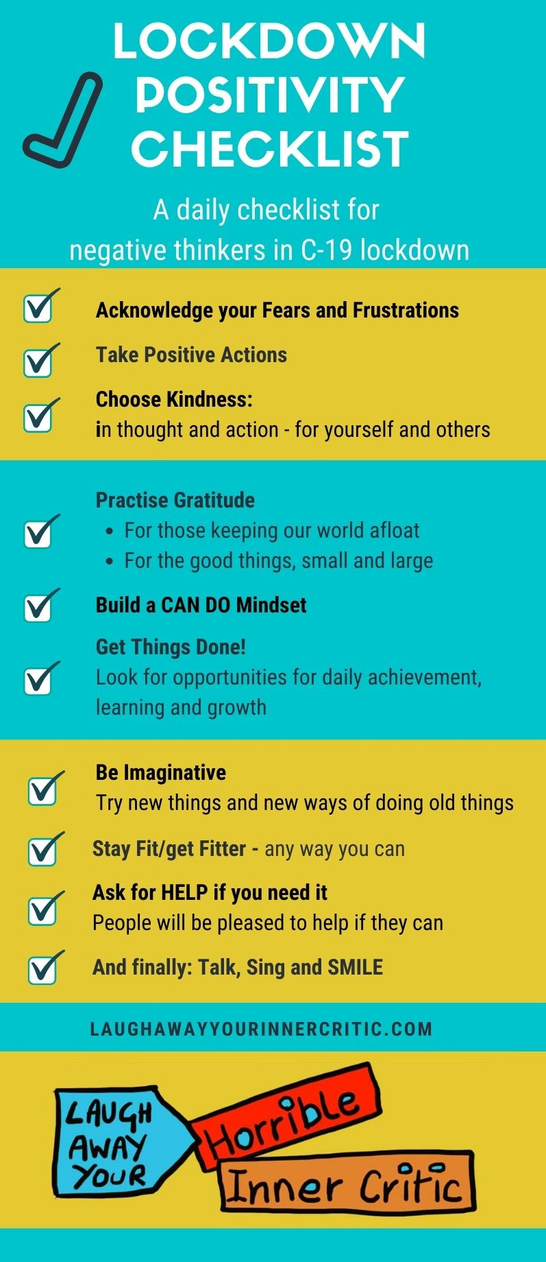 Lockdown Positivity Checklist