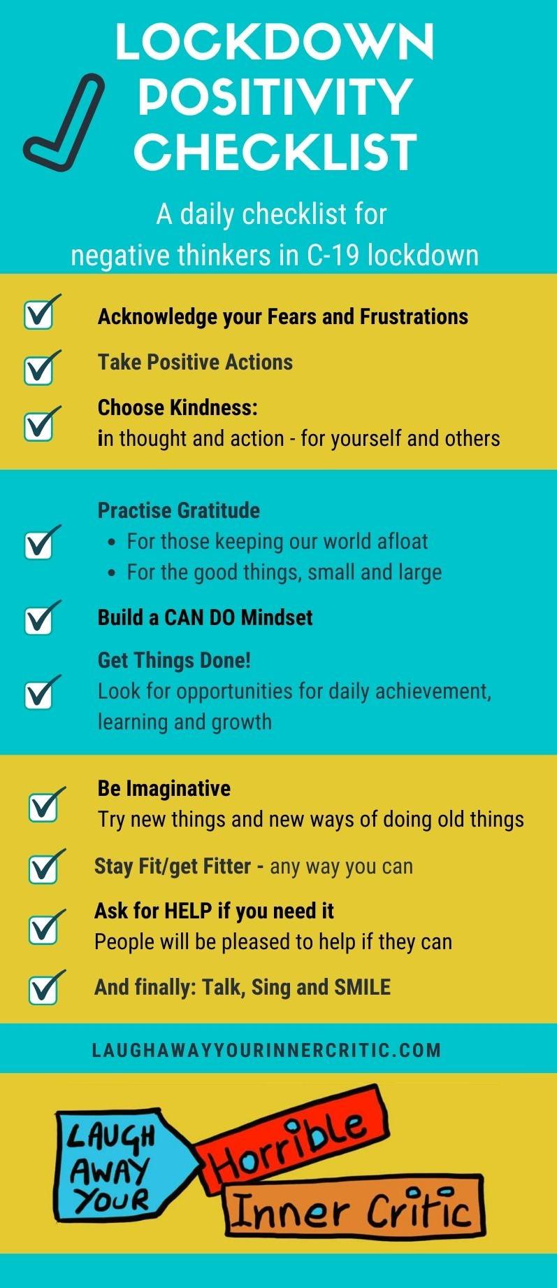 Lockdown Positivity Checklist